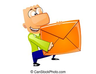 Businessman - Mail delivery - This is the illustration of...