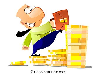 Career Businessman - Image of happy businessman with...