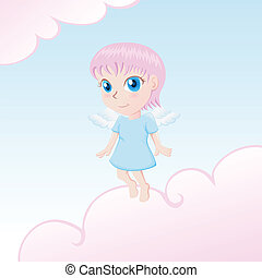Cute Angel  - Little angel illustration