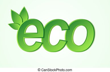 eco friendly icon. Many similarities in the profile of the...