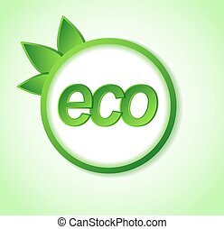 eco friendly icon on frame. Many similarities in the profile...