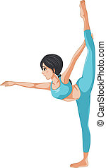 A girl stretching her body - Illustration of a girl...