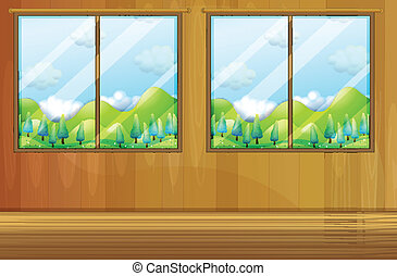 Windows made of glass - Illustration of the windows made of...