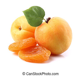 Fresh and dried apricots