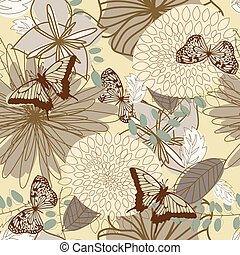 Seamless vector floral pattern. For easy making seamless...