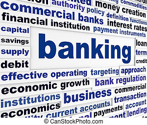 Banking business words concept