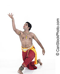 indian traditional male dancer - male Bharathanatyam dancer...