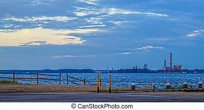A non operational power plant on the York river in Yorktown...