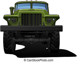 off-highway truck - color illustration of military truck