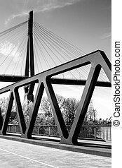 Hamburg Harbour Bridges black