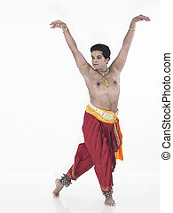 classical male dancer from india - male Bharathanatyam...