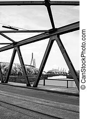 Harbour Bridges - Two girder bridges and the Kohlbrandbridge...