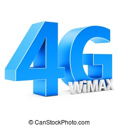 3d sign of 4G  Wimax wireless technology