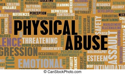Physical Abuse Awareness and Help Concept Art