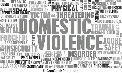 Domestic Violence Awareness and Stop It Concept