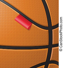 basketball background with label