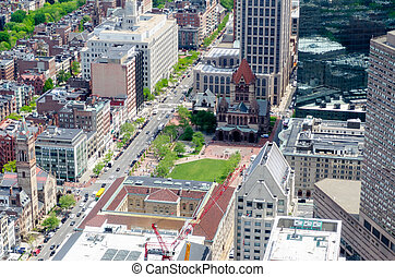 Aerial View of Copley Square, Boston - Aerial View of Copley...