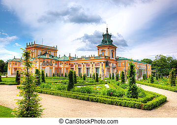 Wilanow Palace in Warsaw, Poland - The royal Wilanow Palace...