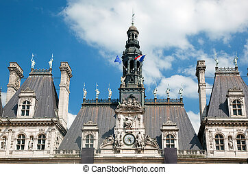 The Hotel de Ville, Paris, France Houses City of Pariss...