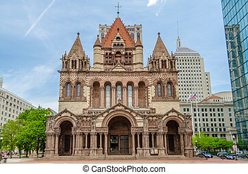 Trinity Church, Boston - Trinity Church, Copley Square,...