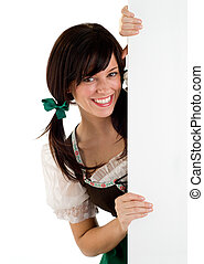 St Patricks Day Girl - Beautiful Smiling Young Woman Holding...