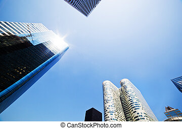 Business skyscrapers La Defense, Paris, France - Business...