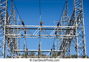 High Power Sub-Station Straight On - A high power substation...