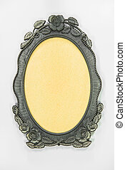 Ornamented, silver picture frame
