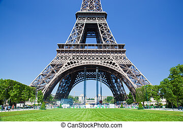 Eiffel Tower lower part, Paris, France - Eiffel Tower lower...