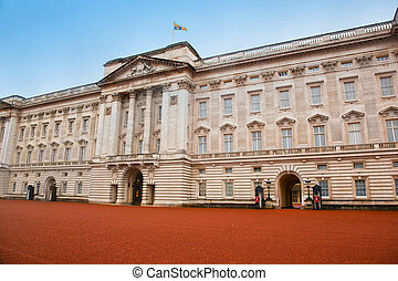 Buckingham Palace in London, the UK Home to the Queen of...