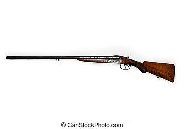 viejo, escopeta