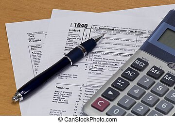 1040 U.S. Tax Form - 1040 U.S. Tax From with Calculator &...