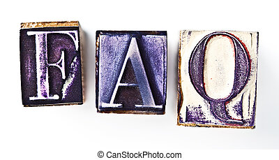 Frequently asked questions rubber stamp
