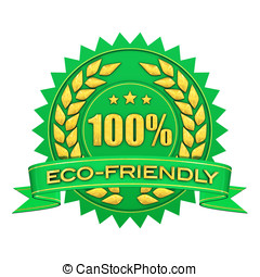 Eco friendly - 100 percent eco-fiendly , green and gold...