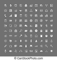 Universal web icons set - 100 universal web icons set vector...