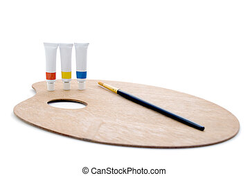 Primary Palette - Complete - Three tubes of paint (primary...
