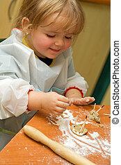 Little girl having fun - Baby girl having fun with the...