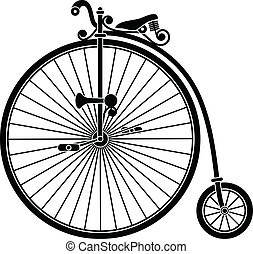 Vintage Bicycle - Vintage penny farthing big wheel bicycle.