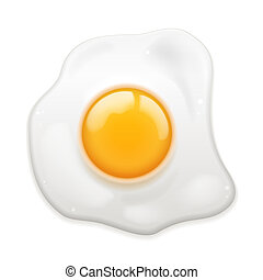 Fried Egg - Vector Fried Egg isolated on white background