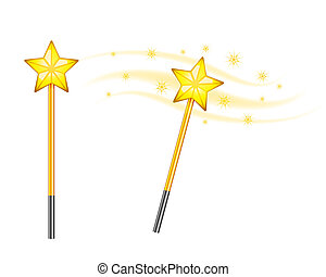 Star magic wand isolated on white background