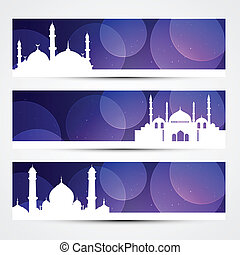 eid banners - beautiful set of ramadan and eid banners