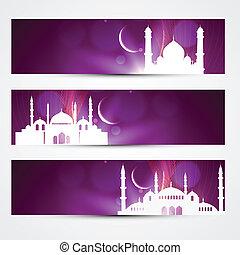 eid headers - stylish purple color eid headers
