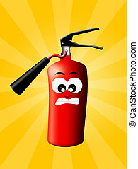 fire extinguisher - illustration of fire extinguisher