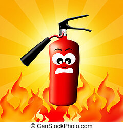fire extinguisher - illustration of fire extinguisher