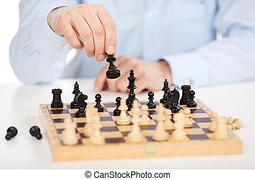 Skillful chess player - A skillful chess player makes his...