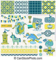 Scrapbook Design Elements - Little Prince Boy Set - in...