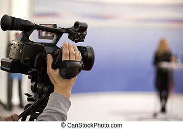 video camera - Video camera for news TV broadcasting