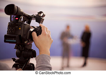 tv broadcasting - Video camera for news TV broadcasting
