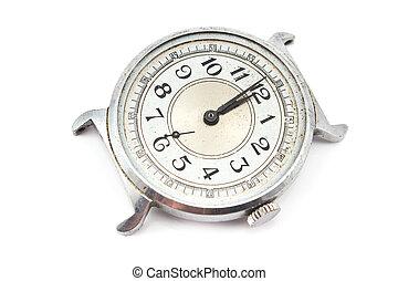 Old dirty wristwatch