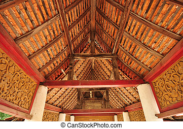 Detail roof in temple of Thailand